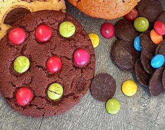 Rainbow Dark Cookies