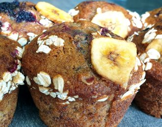 Bramble, Banana & Oat Muffin